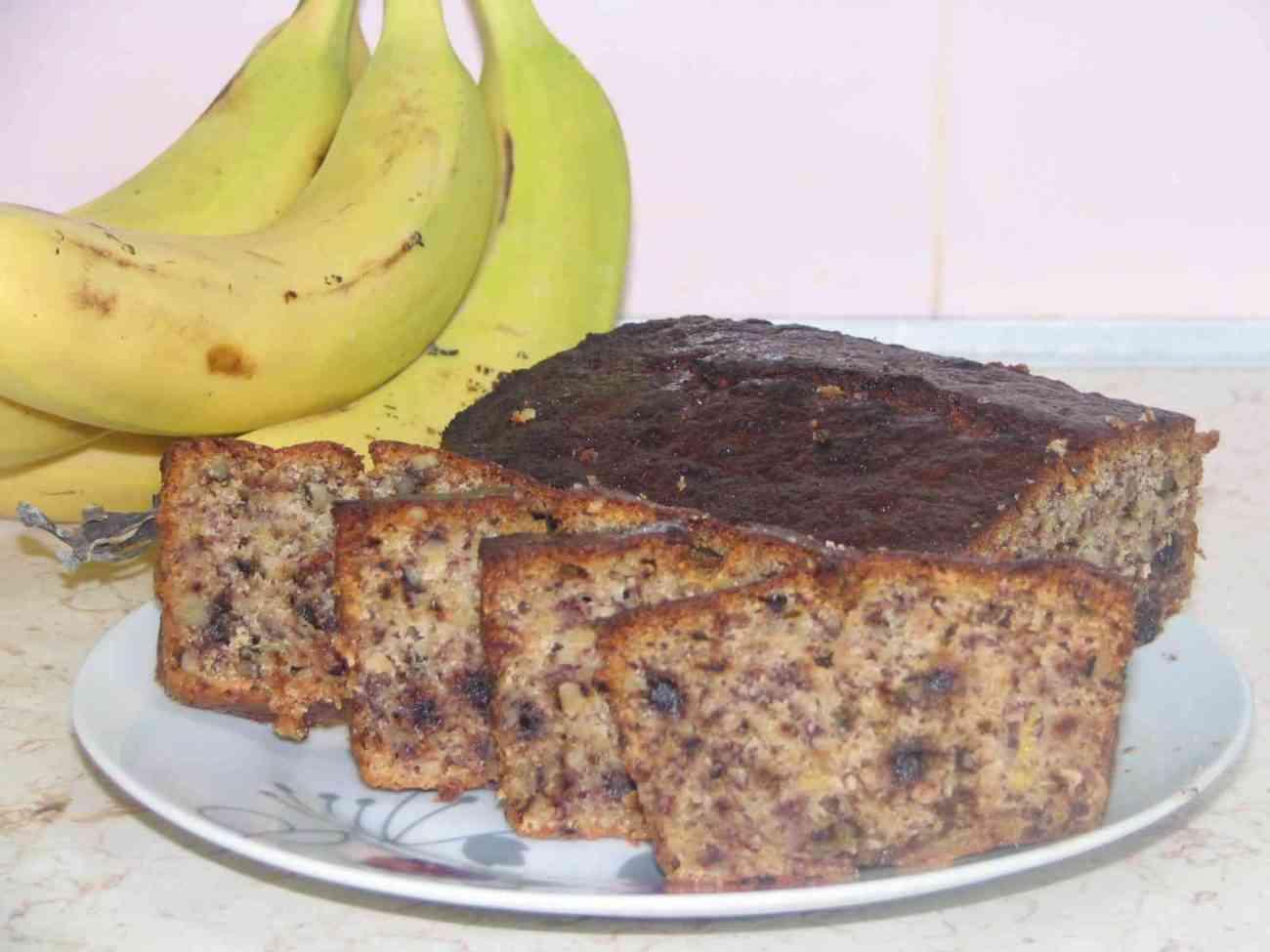 עוגת בננות שוקולד צ'יפס