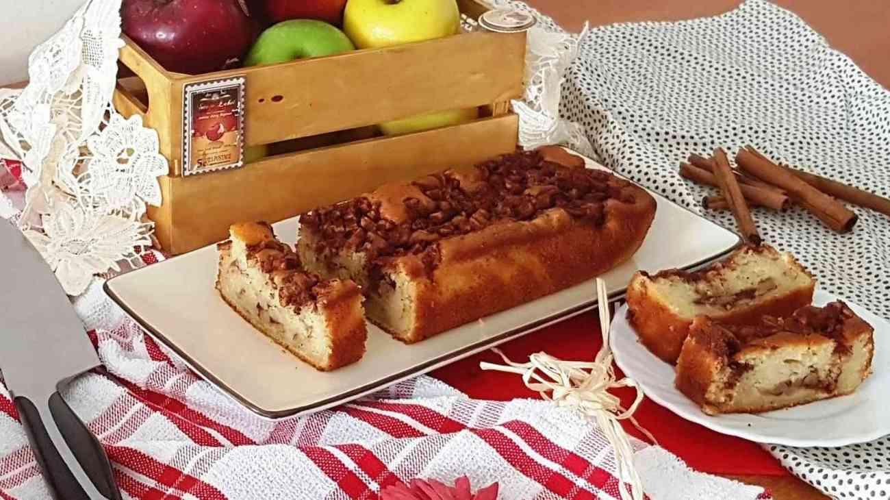 עוגת תפוחים וקינמון חלבית