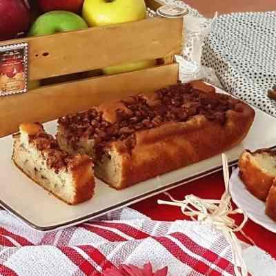 עוגת תפוחים וקינמון חלבית לראש השנה