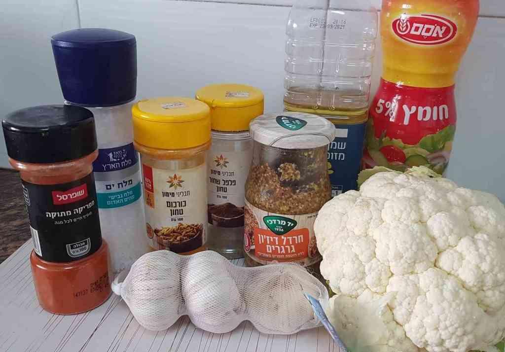 מתכון לפרחי כרובית בתנור בציפוי חרדל דיז'ון