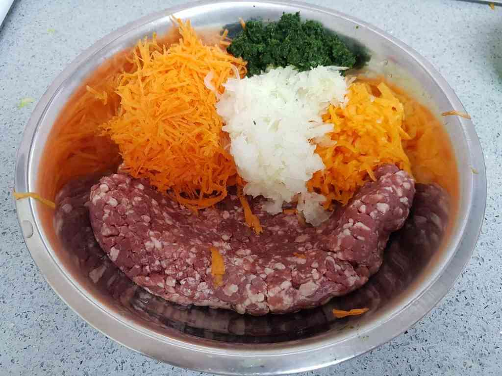 מתכון לקציצות בשר וגזר