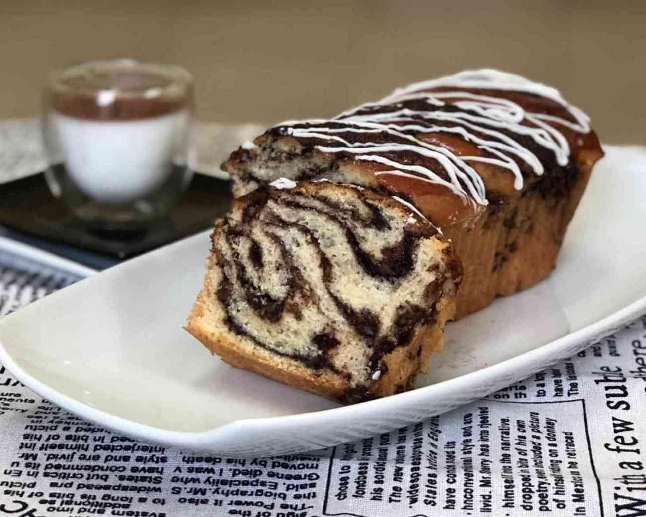 עוגת שמרים במלית שוקולד ואגוזים פרווה