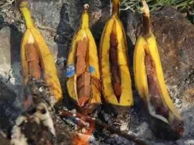 בננה ספליט על האש