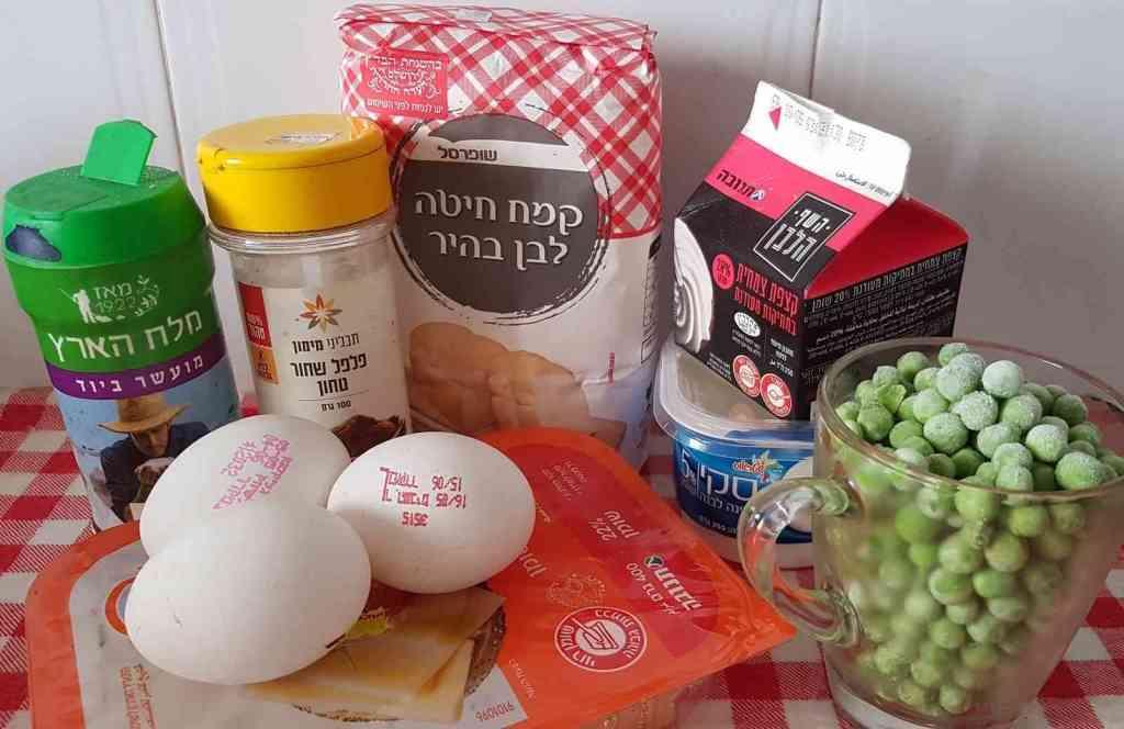 מתכון לפשטידת בטטה ואפונה עם גבינות לאירוח חלבי