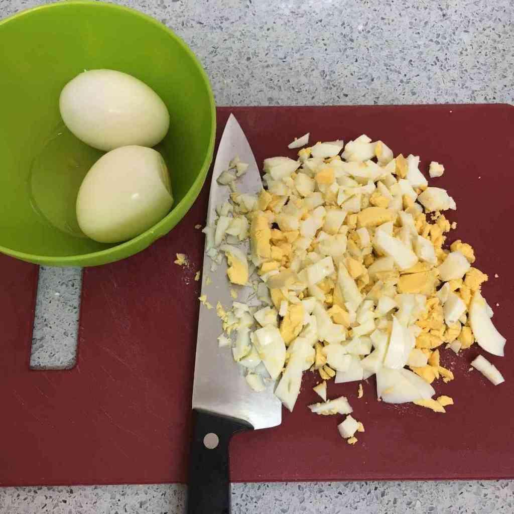 פירה תפוא וביצים קשות