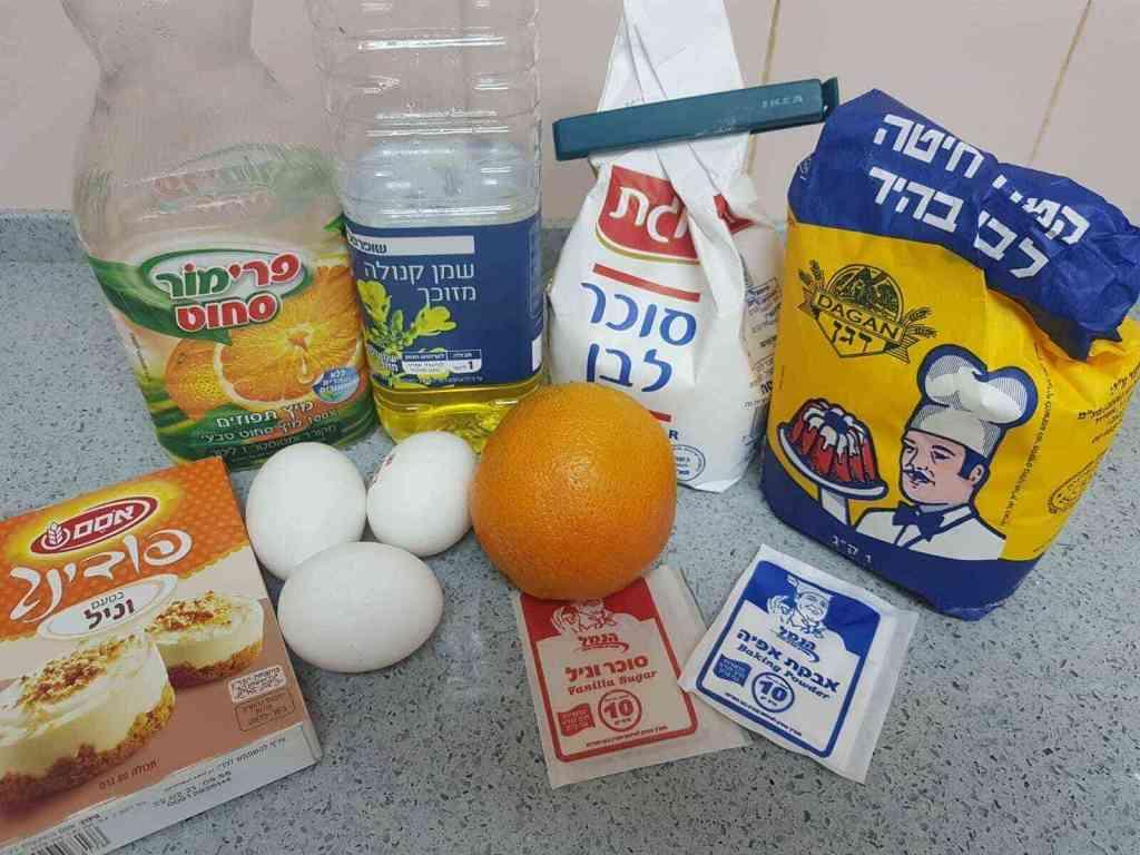 עוגת מיץ בחושה וקלילה בטעמים של תפוזים ווניל שמתמוסס בפה שנאפה במיקרוגל