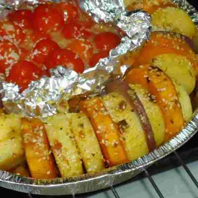 מניפת ירקות אפויים בתנור