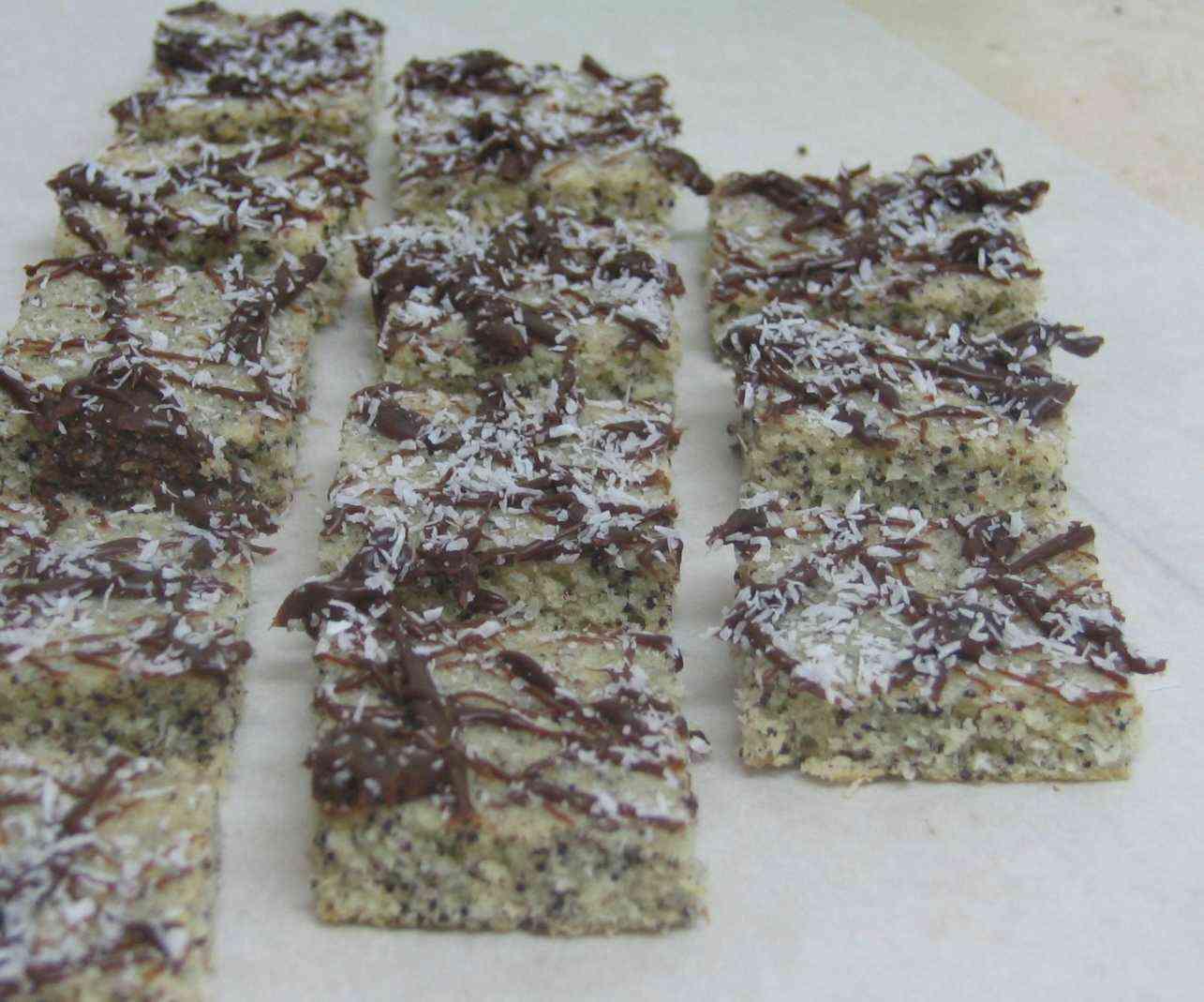 עוגיות פרג קוקוס